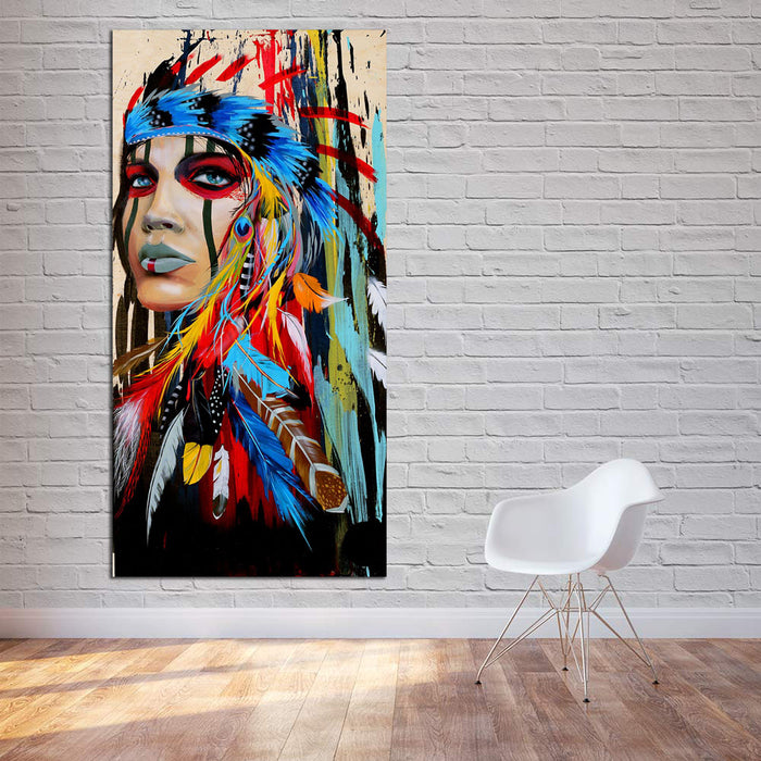 Abstract Feather Canvas Set
