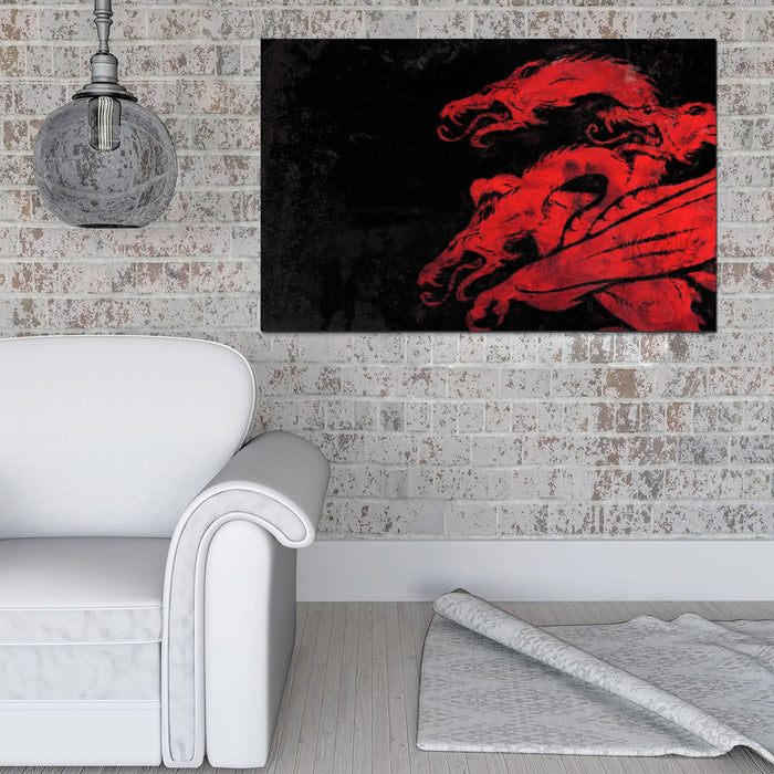 Fire and Blood Canvas
