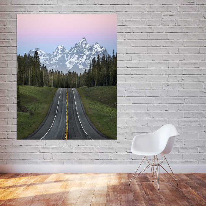One Lonely Road Canvas
