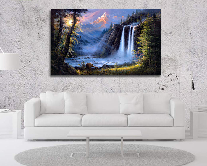 Majestic Waterfall Canvas