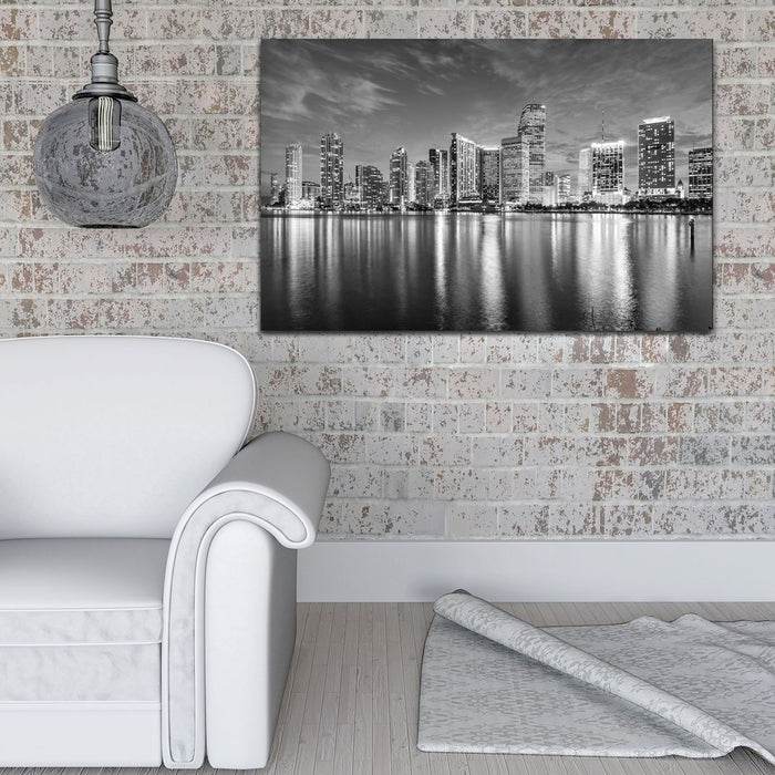 Miami Skyline Cityscape Canvas