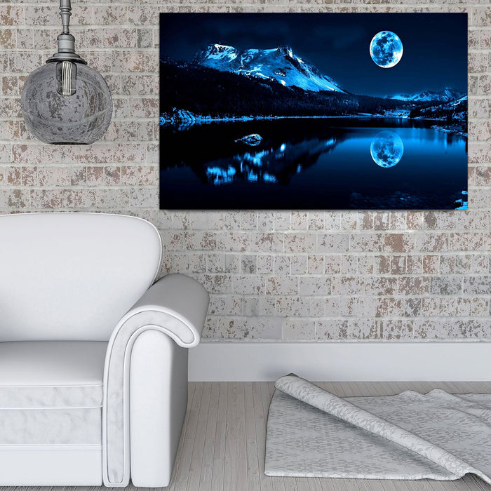 Moonlight Lake Canvas