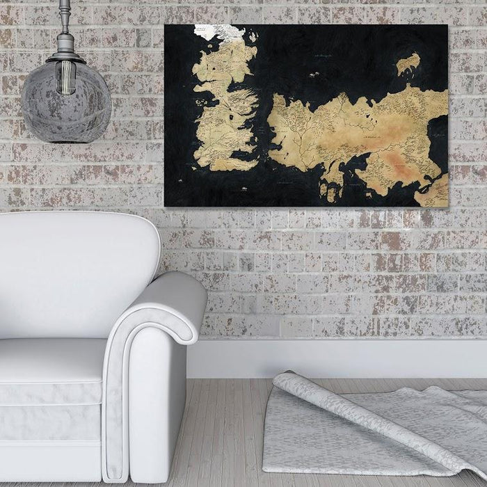 Map Of Westeros II Canvas