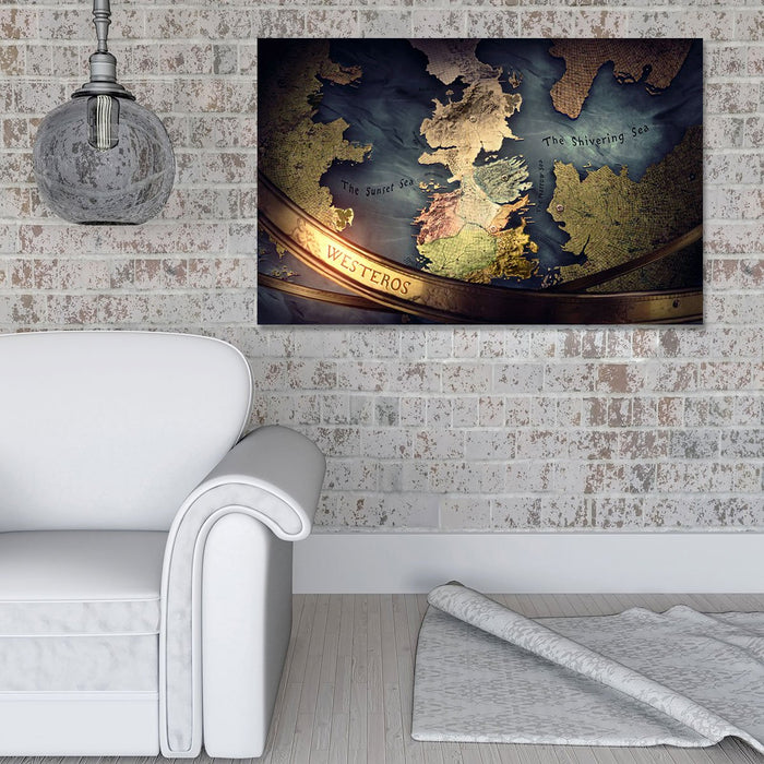 Map Of Westeros I Canvas