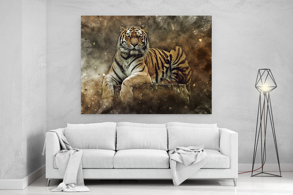 Abstract Tiger Canvas