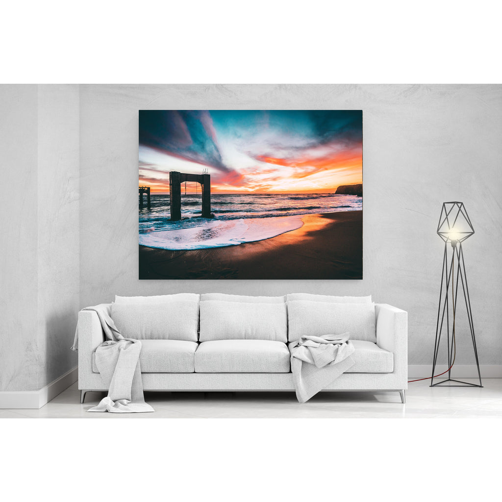 Sunset By The Beach Skies Canvas