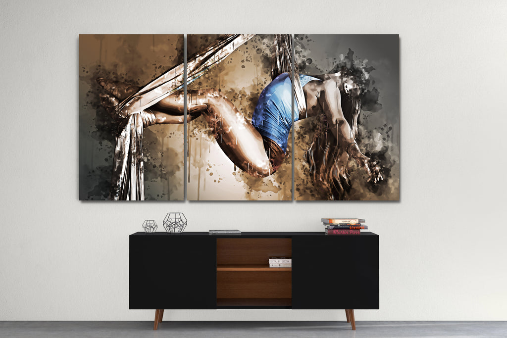 Abstract Aerial Dancer Canvas