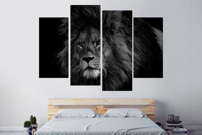 Black And White Lion King Canvas