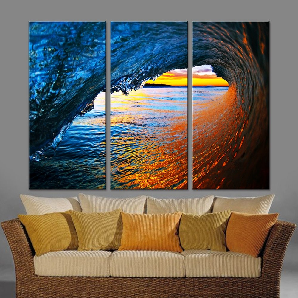 Sunset Wave Canvas