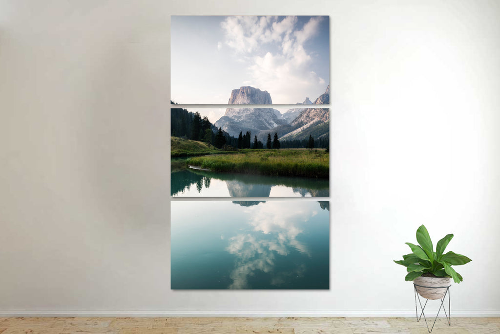 Tranquil Lake, Wyoming Canvas