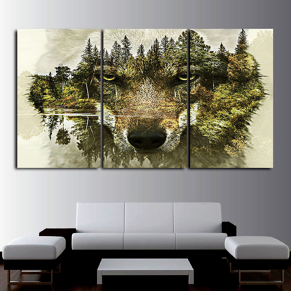 Wolf in the Woods Canvas