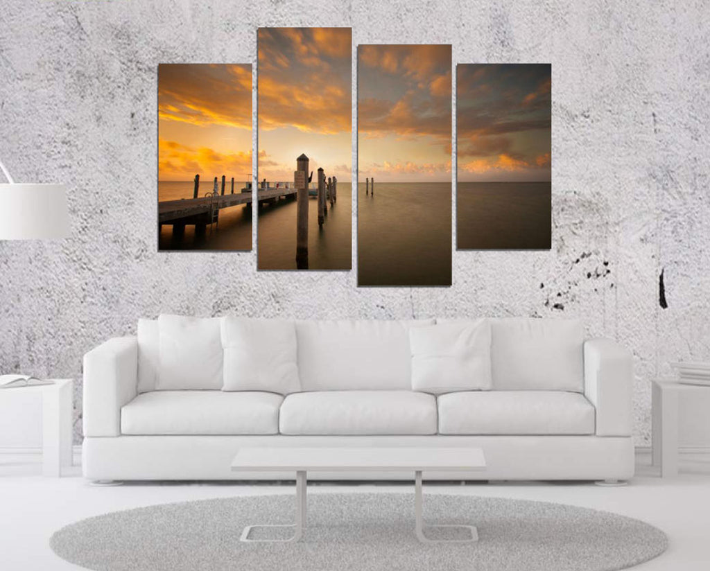 Dock Sunset Canvas