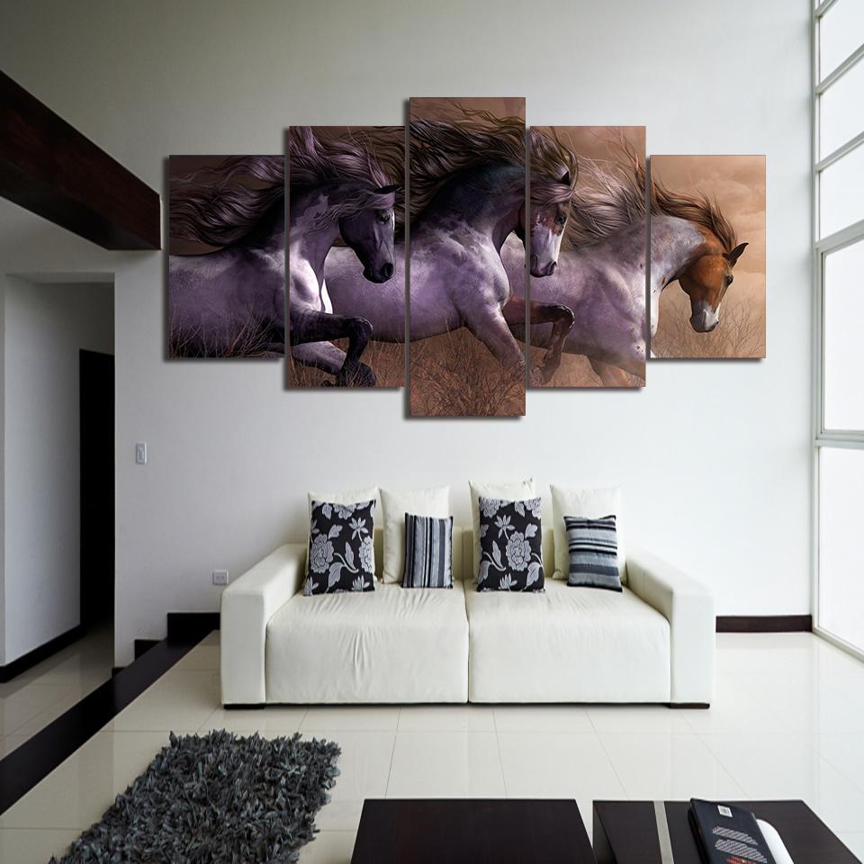 Herd of Horses Canvas