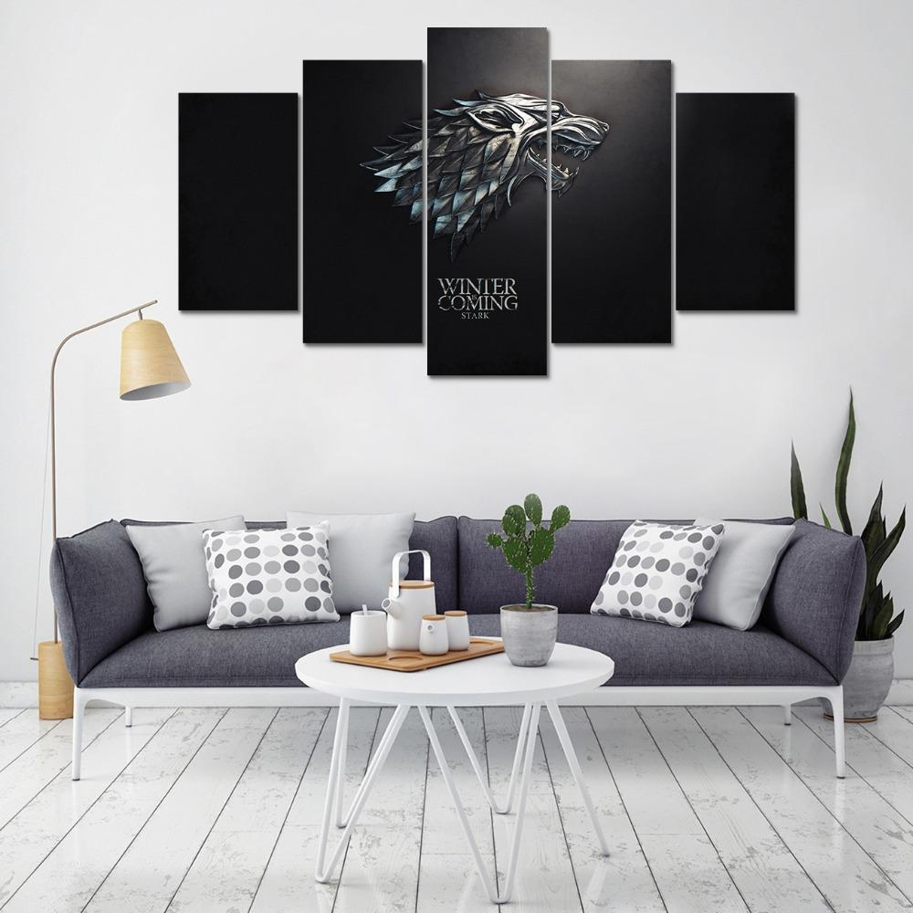 Winter Is Coming Direwolf Canvas