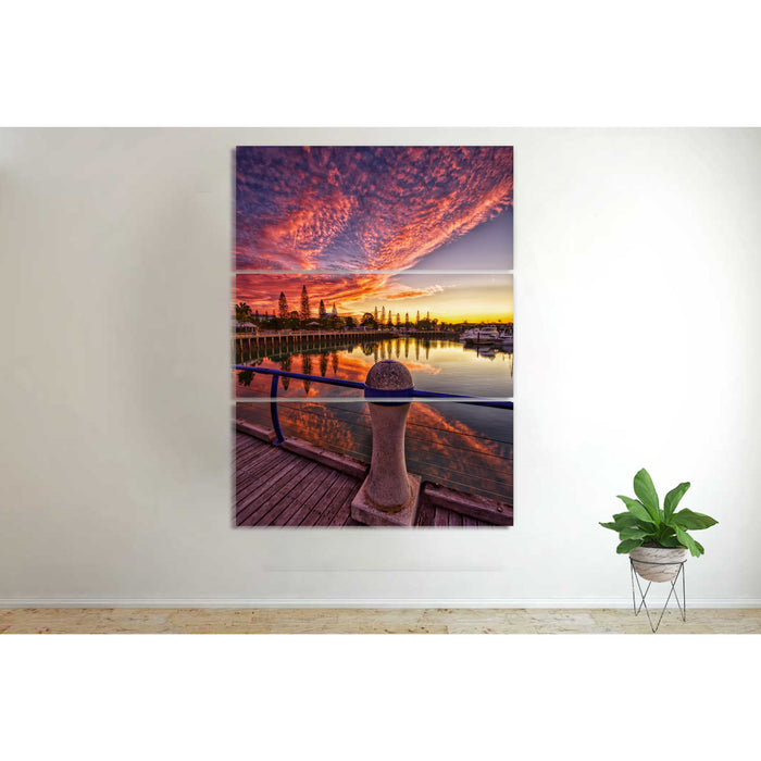 Cotton Candy Sunset Pier Canvas