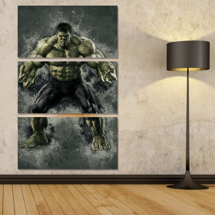 3 PC Incredible Hulk Canvas