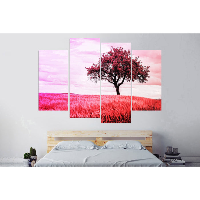 Red Grass Field Canvas