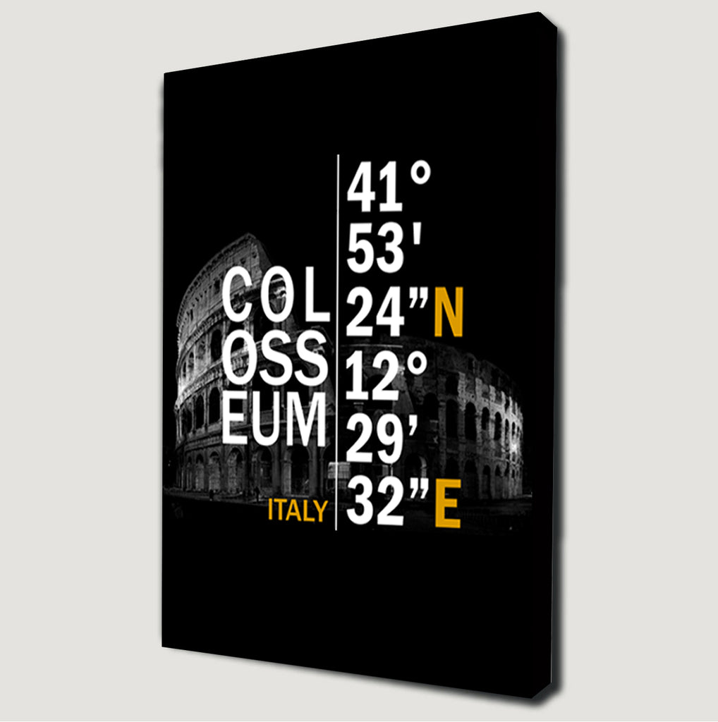 Colosseum Coordinates Canvas