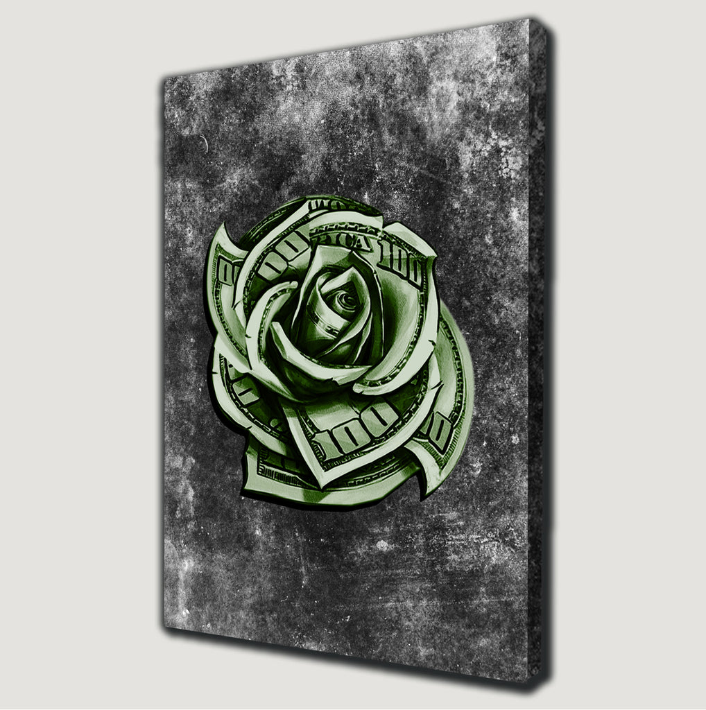 Dollar Rose Canvas