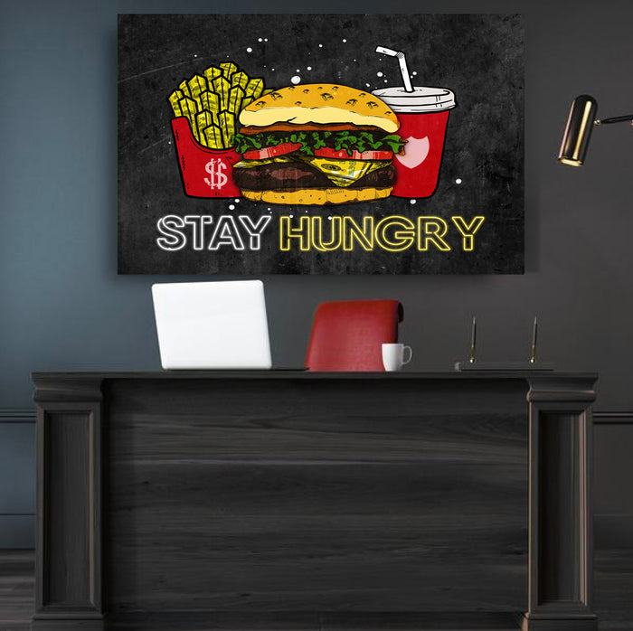 Stay Hungry Canvas