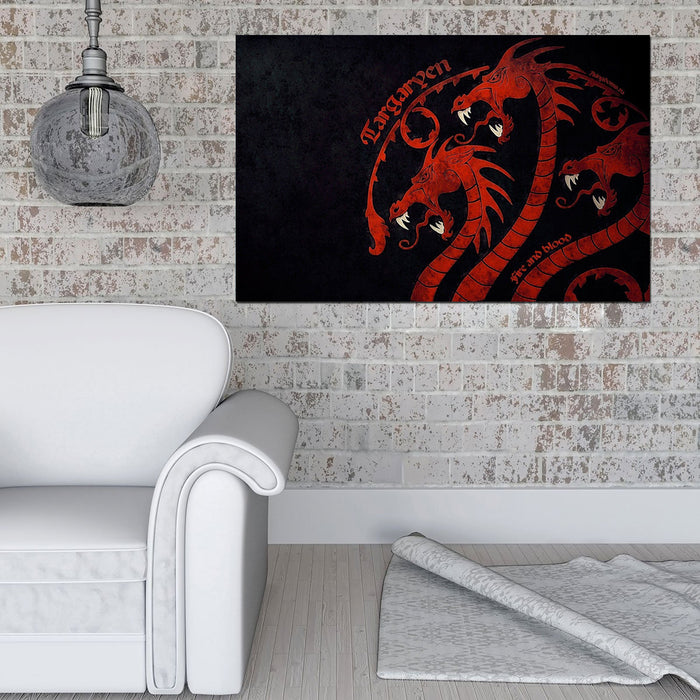 Game of Thrones Dragons Canvas