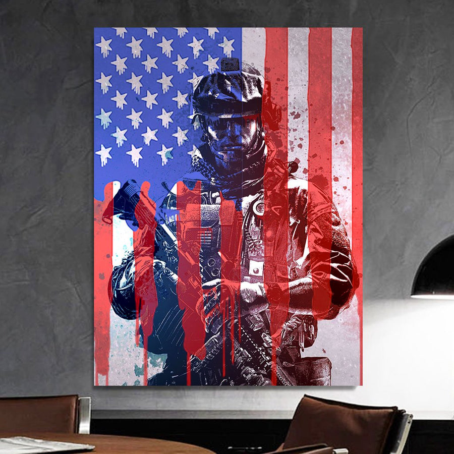 Independence Day Soldier Canvas