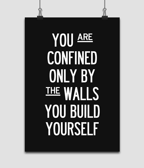 1 PC Confined By The Walls Motivational Canvas