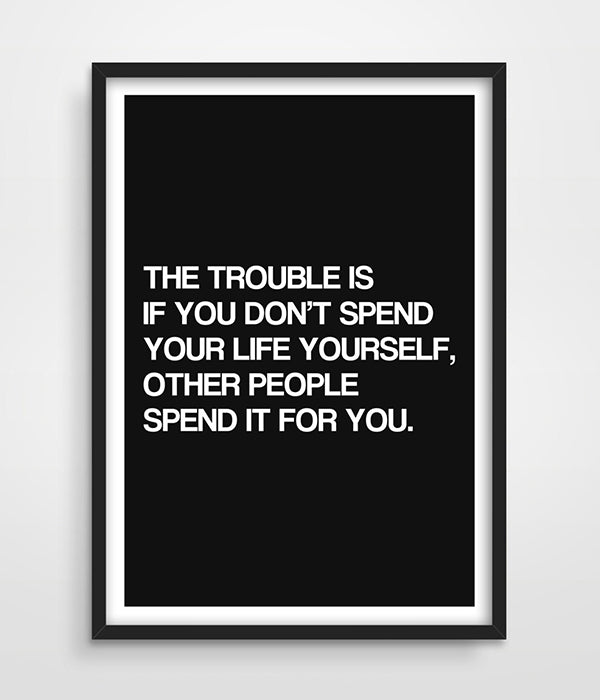 1 PC Spend Your Life Motivational Canvas