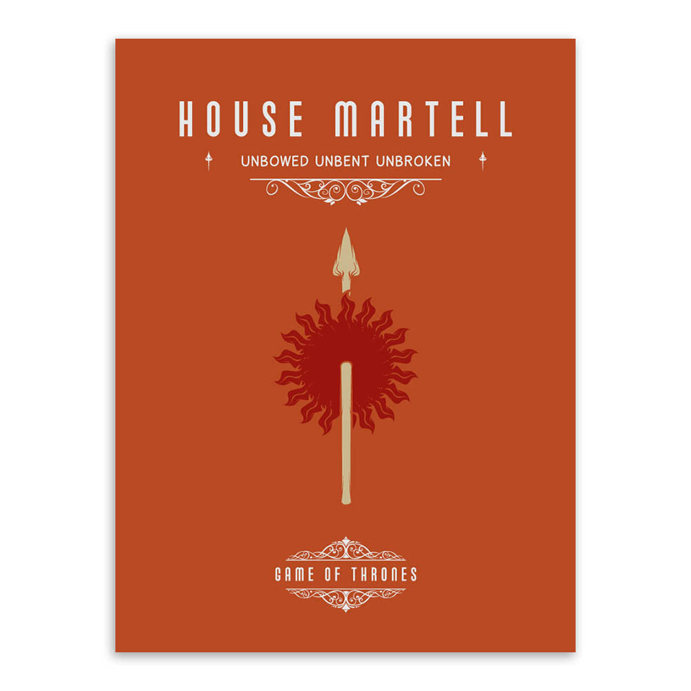 Single Canvas Game of Thrones House Set