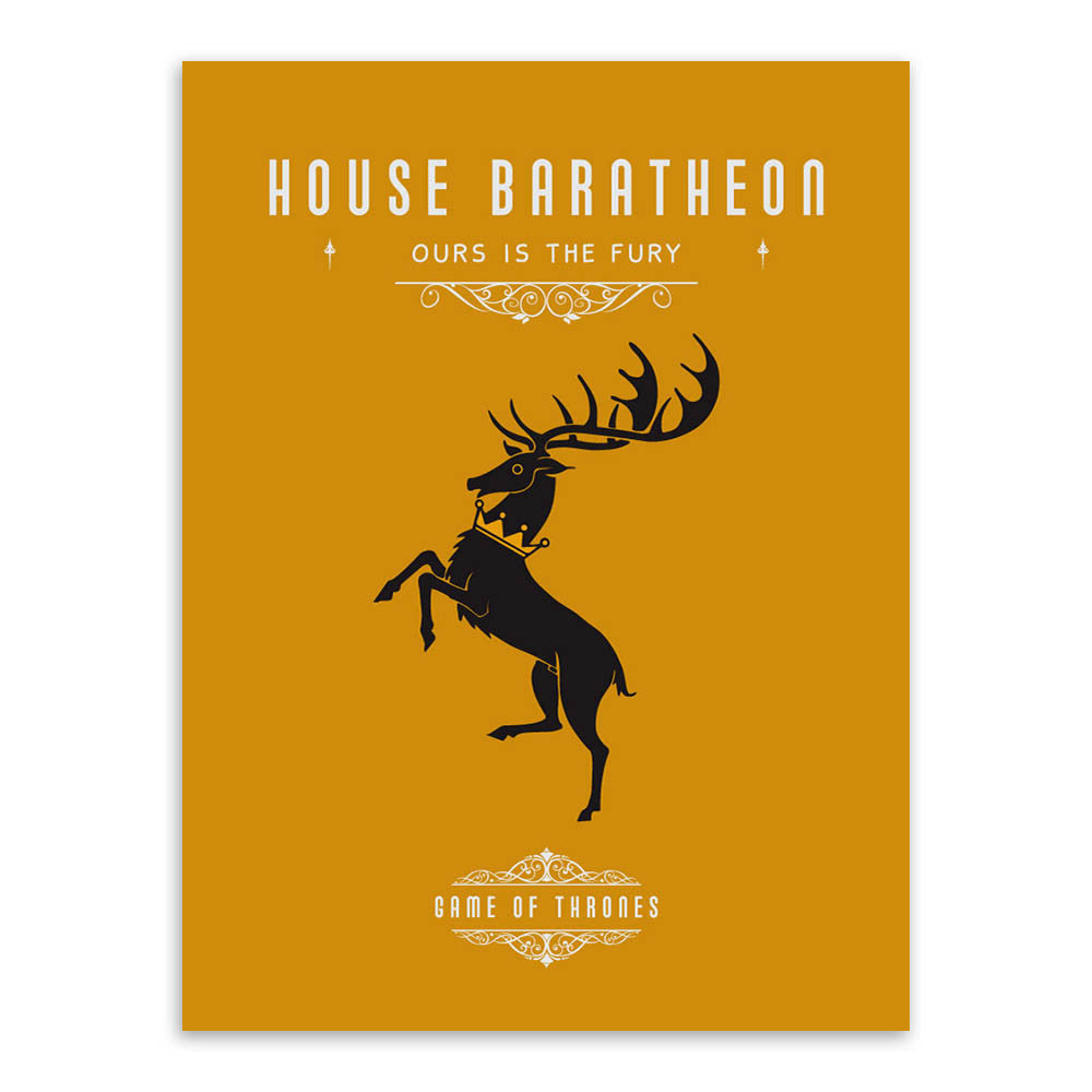 1 PC Single Canvas Game of Thrones House Set