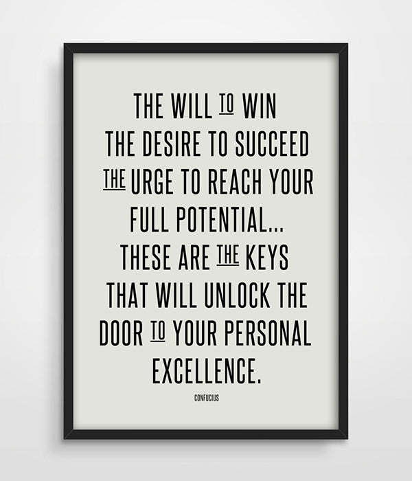 Will To Win Motivational Canvas