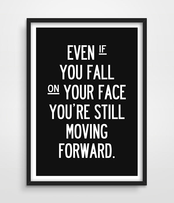 1 PC Move Forward Motivational Canvas