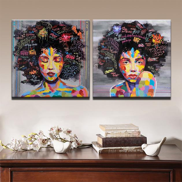 Curly Haired Woman Canvas