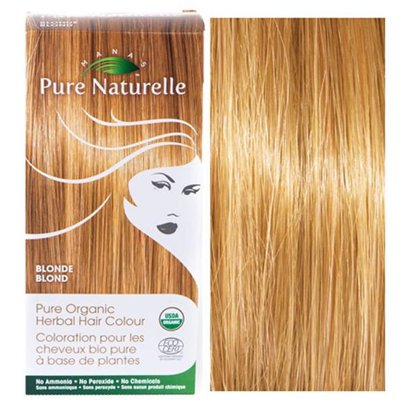 Pure Organic Herbal Hair Colour: BLONDE by Manas PURE NATURELLE