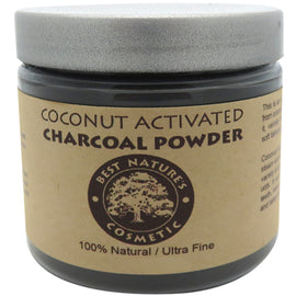 Coconut Activated Charcoal Powder - Natural teeth whitening, detox, or deal with an upset stomach, digestive issue and bloat...