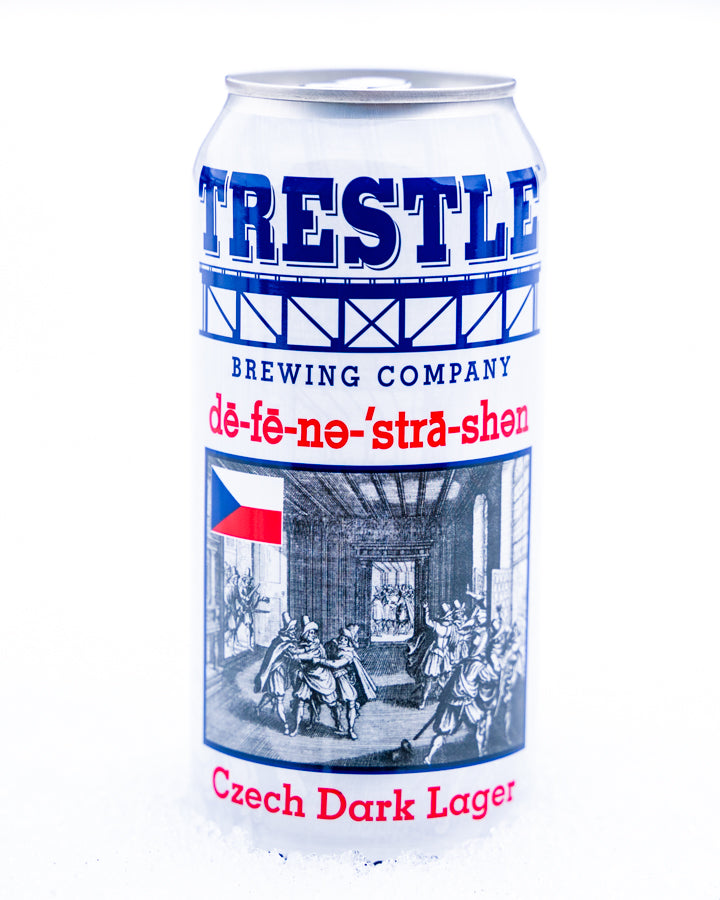 Defenestration Czech Dark Lager - Trestle Brewing Company