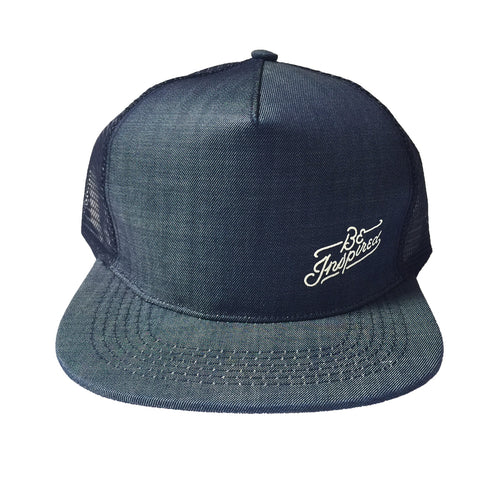 Be Inspired Denim Trucker Hat (Blue)