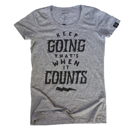 Triblend FEMALE Tshirt - Keep Going (Grey)