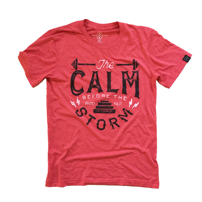 Triblend MEN Tshirt - Calm before the Storm T-shirt (Red)