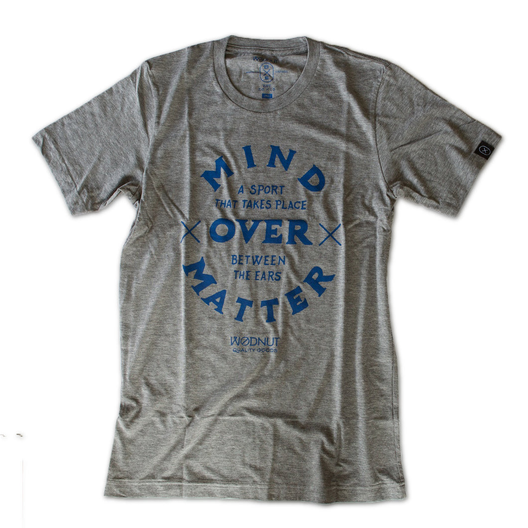 Triblend MEN Tshirt - Mind Over Matter (Heather Grey)