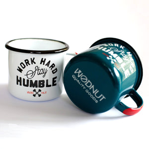 Work Hard Stay Humble Enamel Mugs (Set of 2)