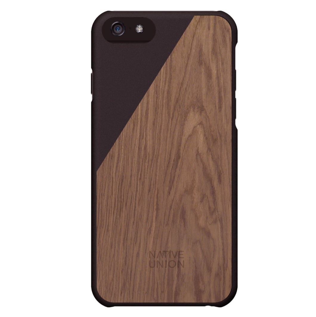 CLIC iPhone 6 Case Walnut Wood Black