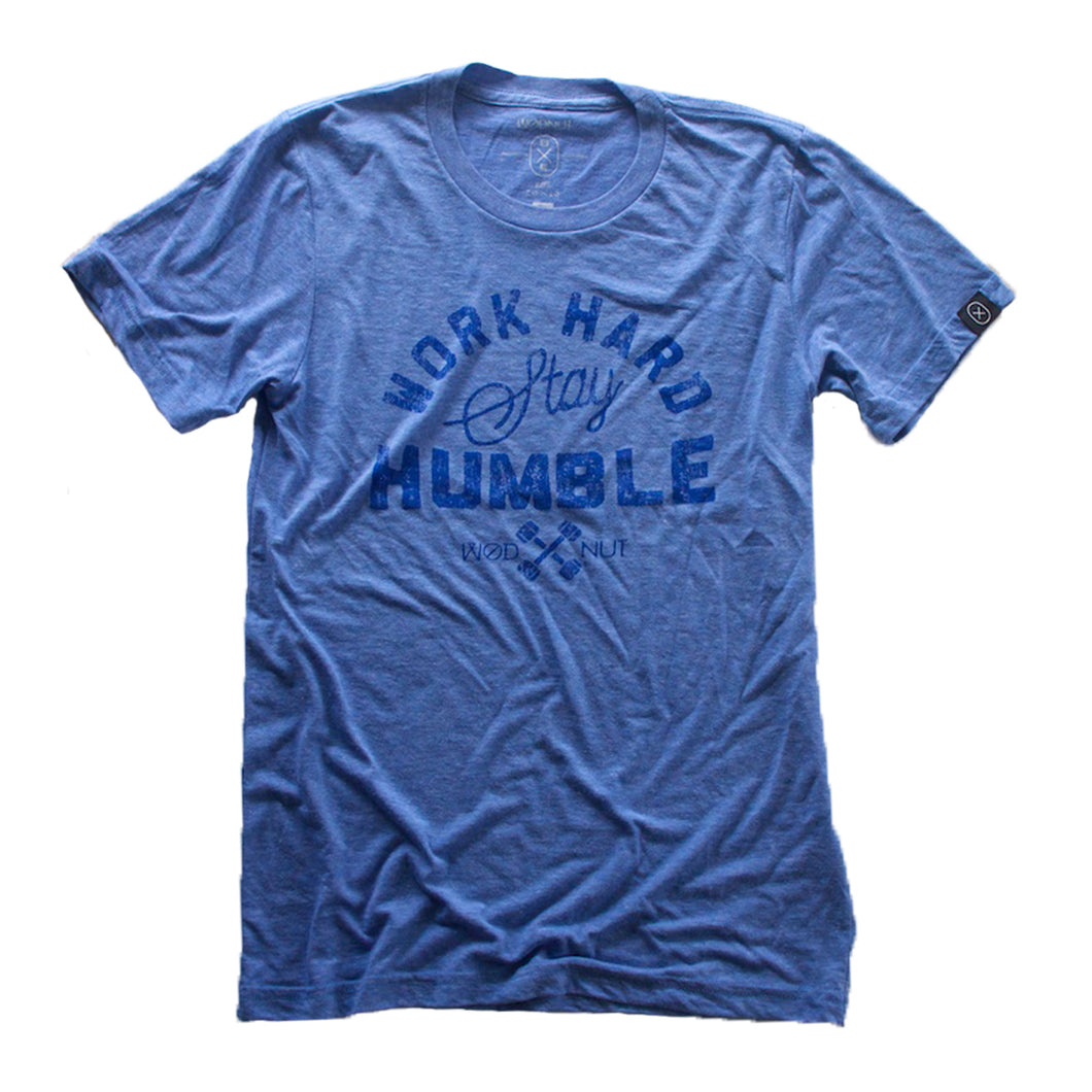 Triblend MEN Tshirt - Work Hard Stay Humble (Blue)