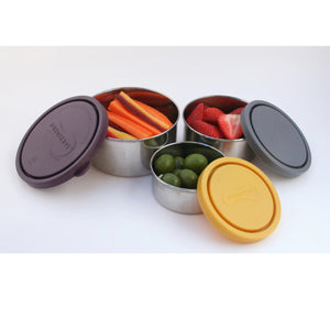 BPA Free Containers - Nesting Trio (Set of 3) Eggplant