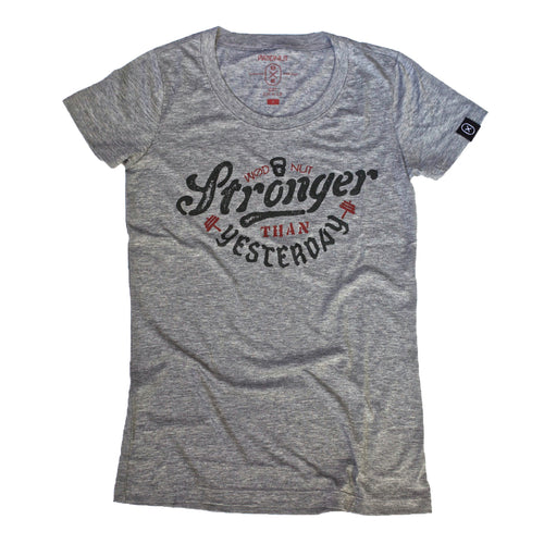 Triblend FEMALE Tshirt - Stronger Than Yesterday (Grey)