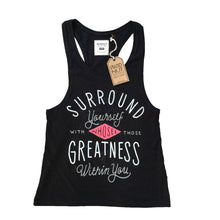 Muscle Racerback Tank - Surround yourself (Black)