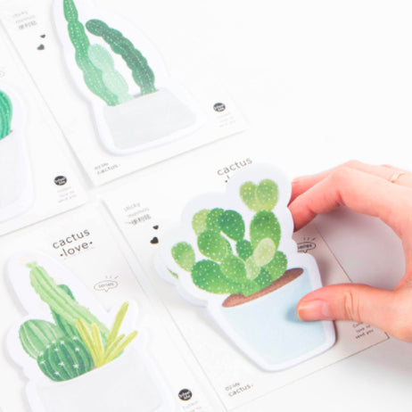 Cactus and Succulent Sticky Notes