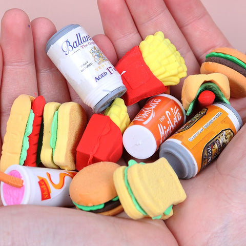 OMG Tiny Food Erasers