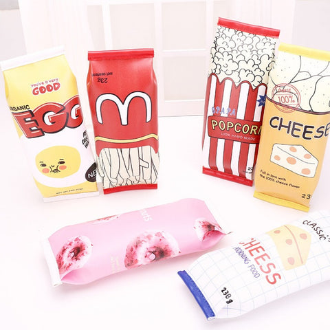 Hyperrealistic Junk Food Pop Culture Pencil Case