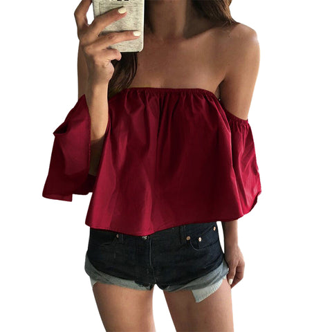 Sweet as Wine Summer Off The Shoulder Top